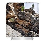 Walnut Canyon Cliffs Shower Curtain