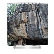 Walnut Canyon National Monument Portrait Shower Curtain