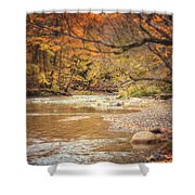 Walnut Creek In Autumn Shower Curtain