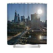 Walnut Street Sunrise From University City Shower Curtain