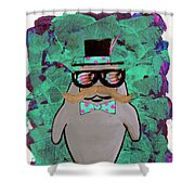 Walrus Brimley - Confused Manatee? Shower Curtain