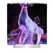 Walrus Ice Art Sculpture - Alaska Shower Curtain