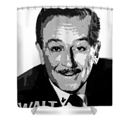 Walt Shower Curtain by David Lee Thompson