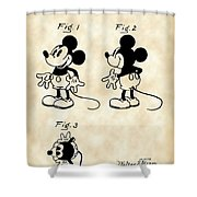 Walt Disney Mickey Mouse Patent 1929 - Vintage Shower Curtain
