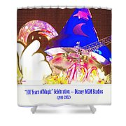 Walt Disney World 100 Years Of Magic Celebration 2001-2002 Shower Curtain