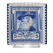 Walt Whitman Postage Stamp Shower Curtain