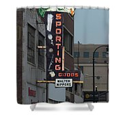 Walter Nippers Sporting Goods Shower Curtain