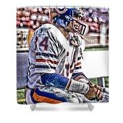 Walter Payton Chicago Bears Art 2 Shower Curtain