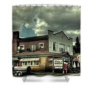Walt's Diner - Vintage Postcard Shower Curtain