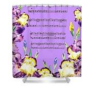 Waltz Of The Flowers Dancing Iris Shower Curtain