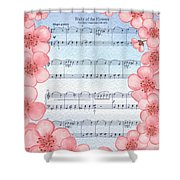 Waltz Of The Flowers Dancing Pink Shower Curtain
