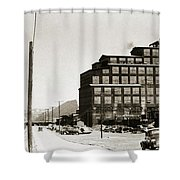 Wanamie Pa Wanamie  Number 18 Coal Breaker 1944 Shower Curtain
