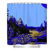 Wanapitae River Morning Shower Curtain