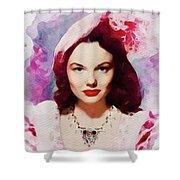 Wanda Hendrix, Vintage Movie Star Shower Curtain