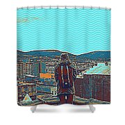 Wander For A Bit Poster Shower Curtain