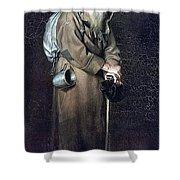 Wanderer H 1870 88h54 Am Gtg Vasily Perov Shower Curtain
