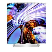 Wandering Helix Abstract Shower Curtain