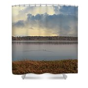 Wando River Landscape Shower Curtain