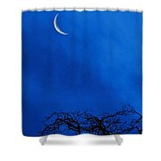 Waning Crescent Shower Curtain
