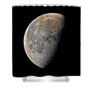 Waning Gibbous Moon / Day 21 Shower Curtain