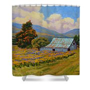 Waning Summer Shower Curtain