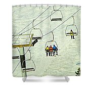 Wanna Lift Shower Curtain by Wendy McKennon