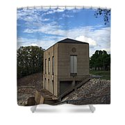Wappapello Dam Gate House Shower Curtain