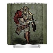 War Beast Shower Curtain