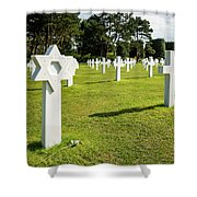 War Crosses In Normandy Shower Curtain