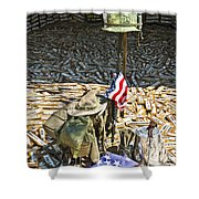 War Dogs Sacrifice Shower Curtain by Carolyn Marshall