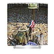 War Dogs Sacrifice Shower Curtain by Carolyn Marshall