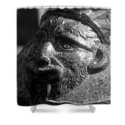 War Face Shower Curtain