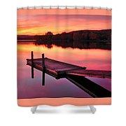 Waramaug Sunset Shower Curtain by Thomas Schoeller