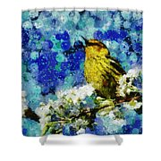 Warbler Of Spring Shower Curtain