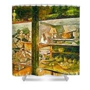 Wardrobe With Ceramic Objects Shower Curtain