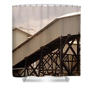 Warehouse Passage Shower Curtain