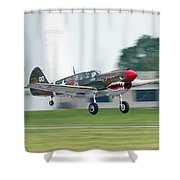 Warhawk Rolling Out Shower Curtain