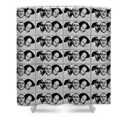 Warhol - Three Stooges Andy Warhol Shower Curtain