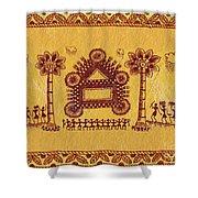 Warli Ceremony Shower Curtain