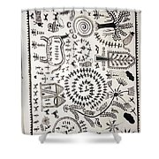 Warli Tribal Painting  Shower Curtain