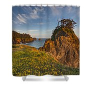 Warm And Peaceful Coast Shower Curtain