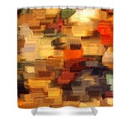 Warm Colors Abstract Shower Curtain