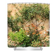 Warm Colors In Mission Garden Shower Curtain