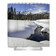 Warm Creek Shower Curtain
