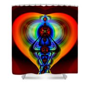 Warm Heart Shower Curtain