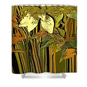 Warm Leaves Shower Curtain