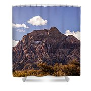 Warm Light In Red Rock Canyon Shower Curtain