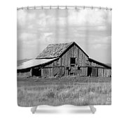 Warm Memories - Black And White Shower Curtain