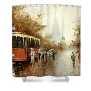 Warm Moscow Autumn Of 1953 Shower Curtain