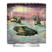 Warm Place Shower Curtain